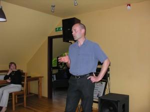 Viens no pasākuma koordinatoriem - Arnis Zacmanis. Foto: P. Strautiņš.