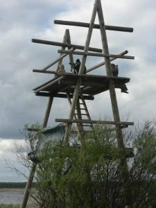 LOB komanda Sedas tornī.  Foto: V. Ķerus
