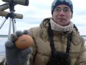 "I. Mārdega ar torņu izlozes olu (""LOB"").  Foto: E. Račinskis"