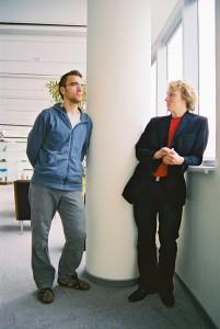 Hansabankas pārstāvji.  Foto: Valts Kampiņš